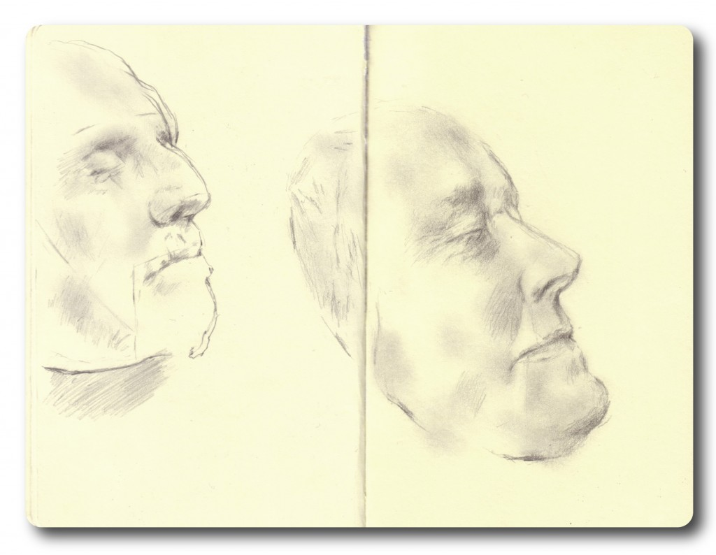 Oliver Cromwell and Ellen Terry death-masks