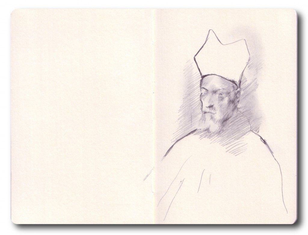 Pope in the NG - pencil