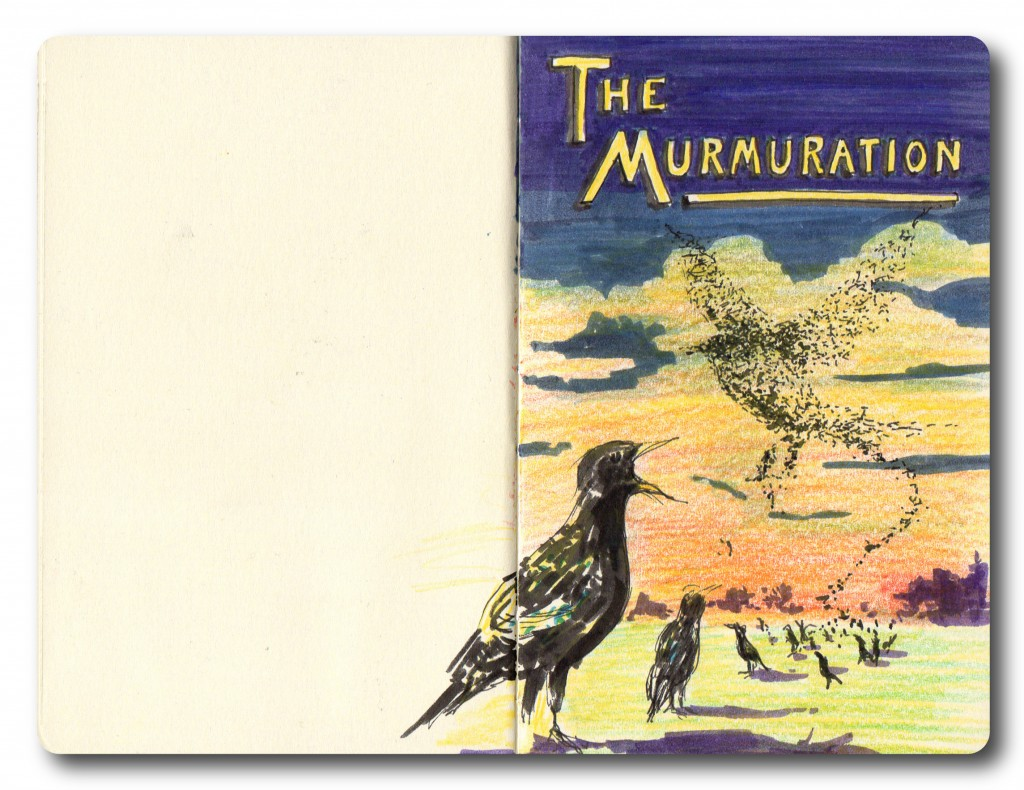 The Murmuration - pencil and Faber Castell pen