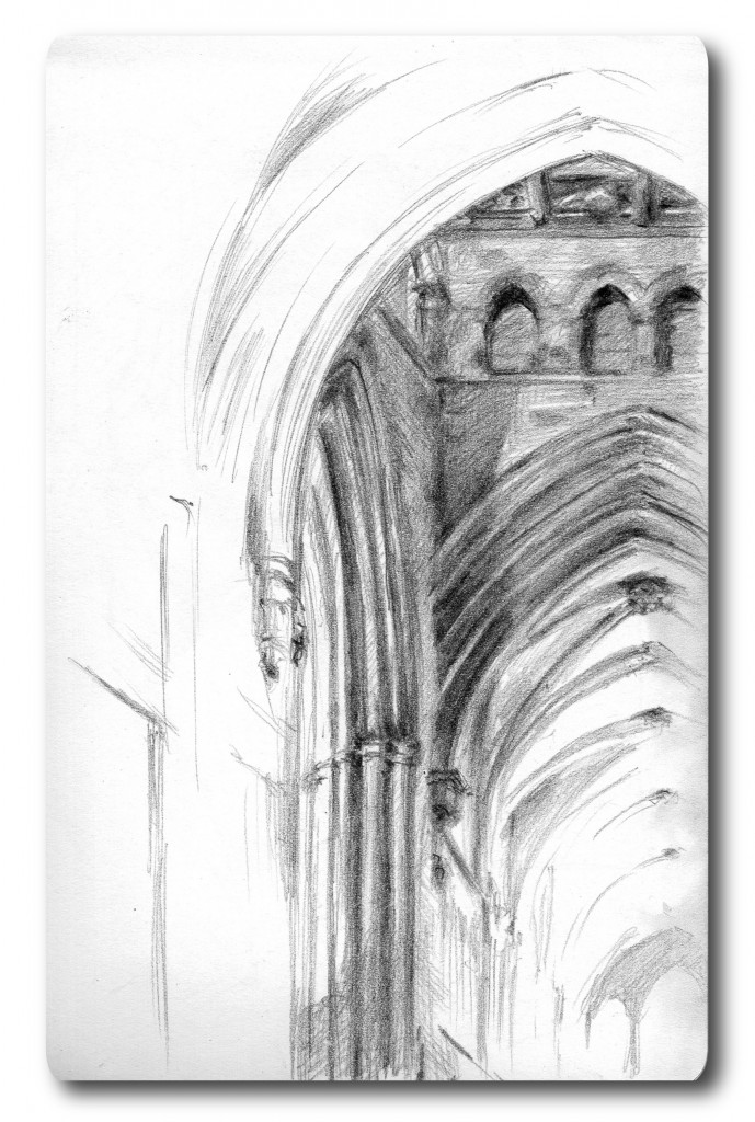 Looking down the nave - Pilot Croquis pencil