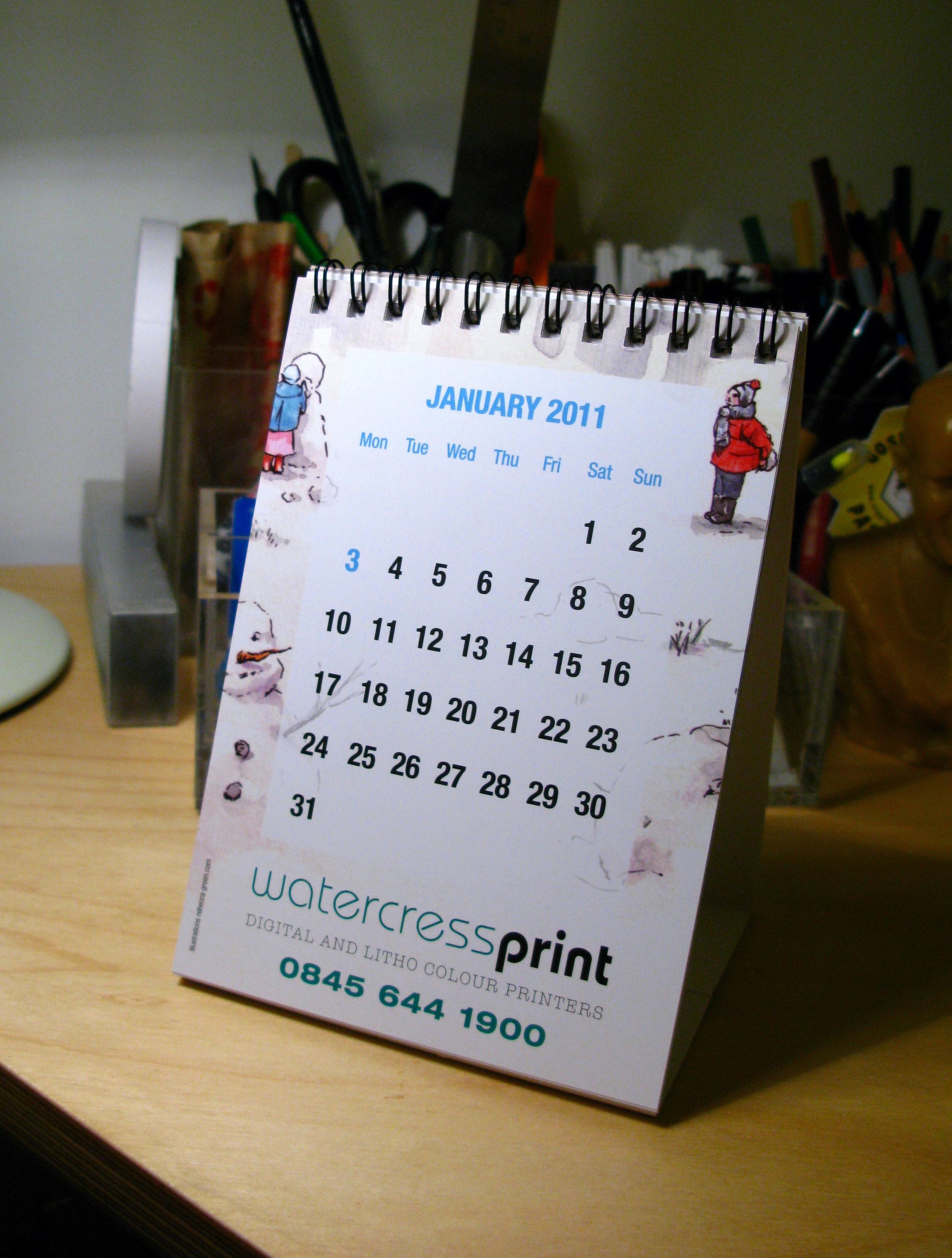 Watercress Print promotional calendar