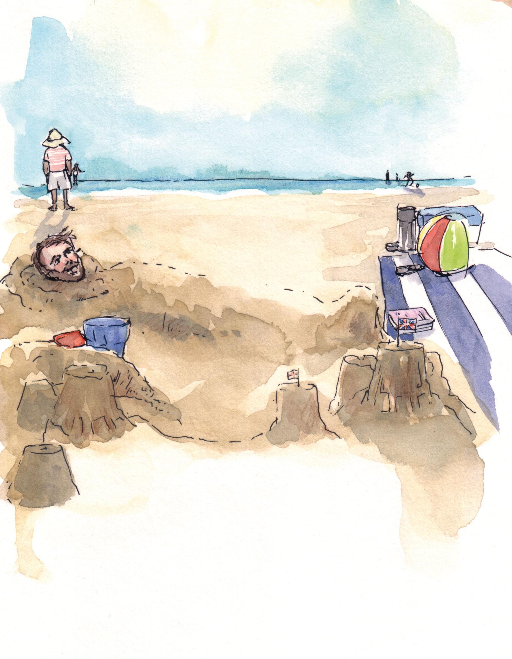 July calendar artwork