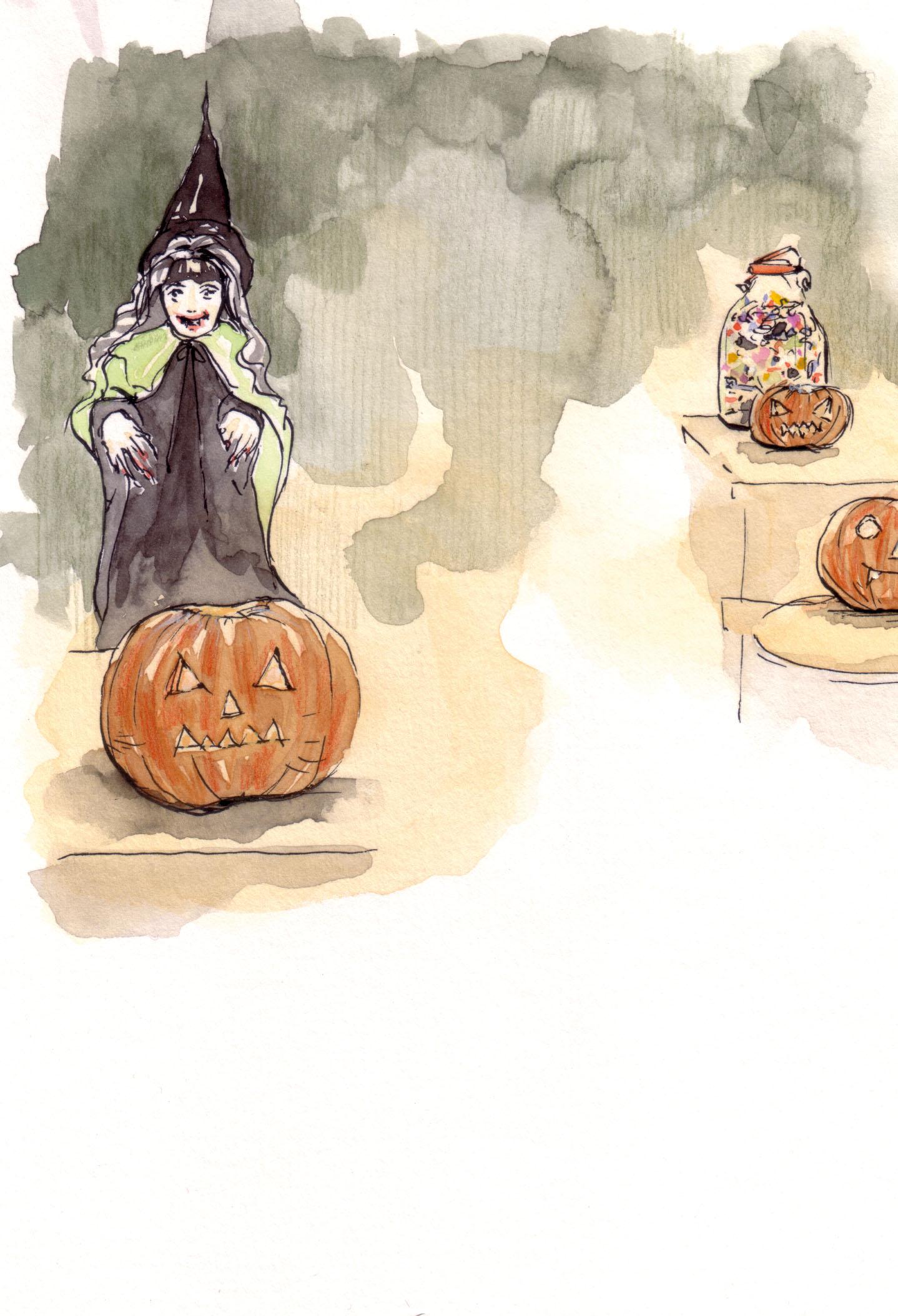 October calendar artwork