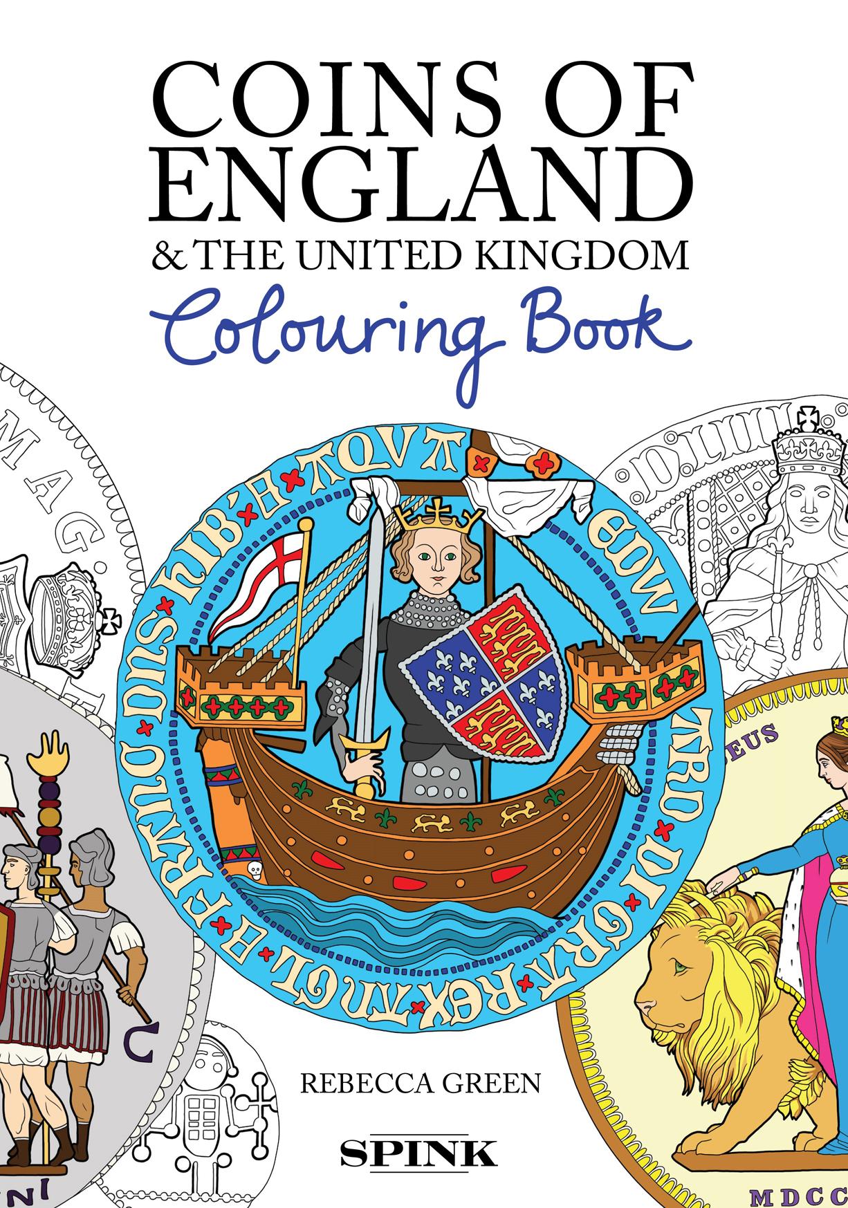 Coins of England Colouring Book